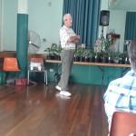 Ian Wintle presenting on 'Bizarre and Beautiful Botanicals'. Always a pleasure to hear Ian speak.